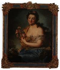 porträt einer adeligen als flora by anna rosina lisiewski