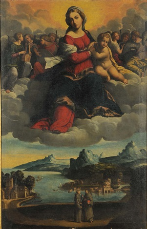 madonna in gloria pair by benvenuto tisi da garofalo