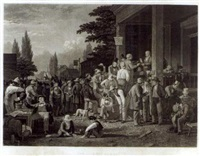 the county election (by sartain) by george caleb bingham