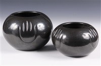 blackware ollas (pair) by angela baca