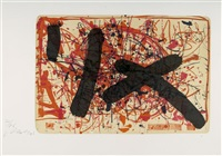 der besuch des mannes mit der gelben krawatte (portfolio of 14, incl. 8 in colo, w/text by björn engholm) by andrás márkos