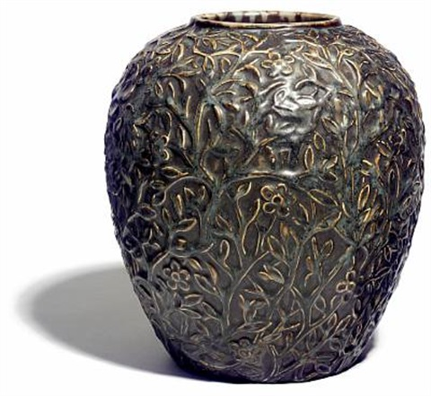Large Vase With Flowers And Branches By Axel Salto On Artnet