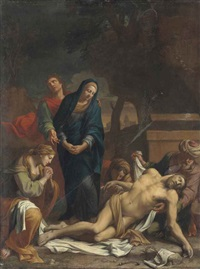 the lamentation by nicolas mignard
