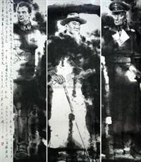 浩气长存系列人物造型之法肯豪森、林森、崔可夫 by ma yidan
