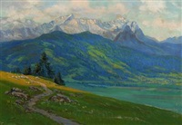 summer day in the mountains by kurt vogler