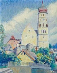 blick auf die laurentiuskirche in bludenz by alfons luger