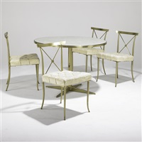 breakfast table (+ chairs (4 works); 5 works) by william haines