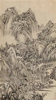 苍山枯木图 by zhang zongcang