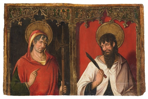 saint jude thaddaeus and saint bartholomew by spanish school 15