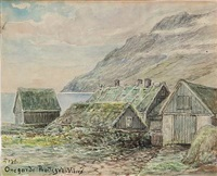 scene from viderø, faroe islands by flora heilmann