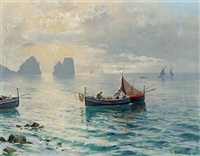 view of capri by michele frederico