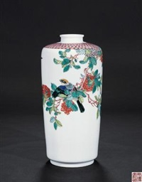 《春意盎然》 (gu cai glazed vase with design of spring) by an deyu
