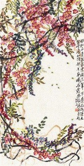 蜜蜂紫藤 by qi liangchi