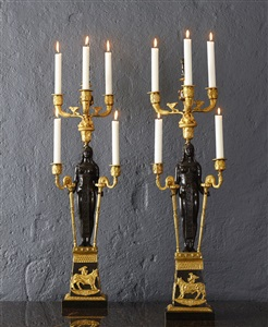 candelabras retour degypte one pair