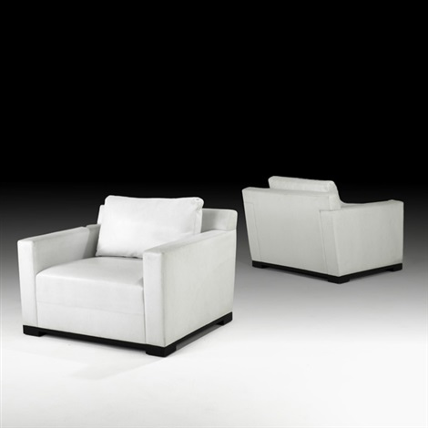 club chairs pair by christian liaigre