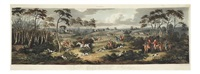fox hunting (engraved by thomas sutherland)(set of 4) by dean wolstenholme the younger