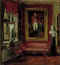 interior fra chr. viii's værelse på rosenborg by hans peter lindeburg
