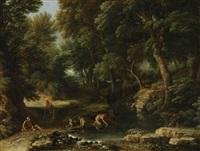 repos dans la forêt by gaspard dughet