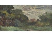 paysage a la maison by maximilien luce