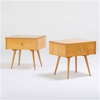 planner group pair of single drawer nightstands by paul mccobb