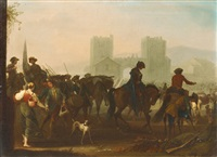 the departure of the soldiers by georg philipp rugendas the elder