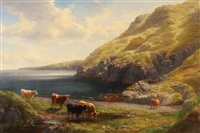 fleshwick bay - isle of man by william davies
