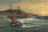 homeward bound, montrose harbour by alexander young