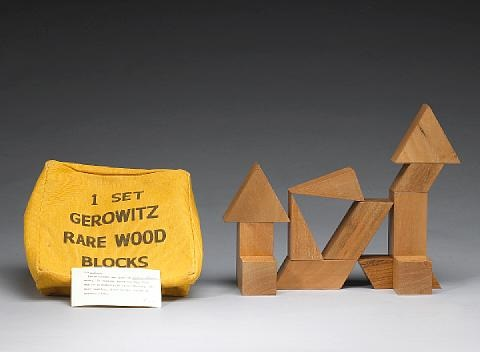 1 set gerowitz rare wood blocks no 3 by judy chicago