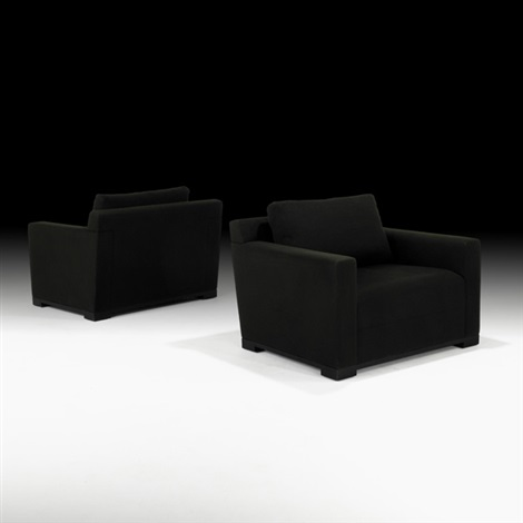 club chairs (pair) by christian liaigre