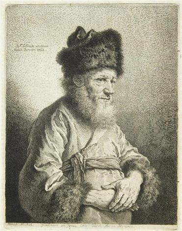 porträtdarstellungen (6 works) by georg friedrich schmidt