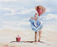 beach girl by lorna millar