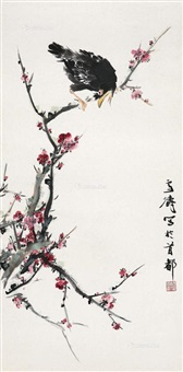 梅花喜鹊 (plum and magpie) by wang xuetao