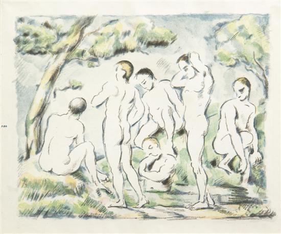les baigneurs petite planche by paul cézanne