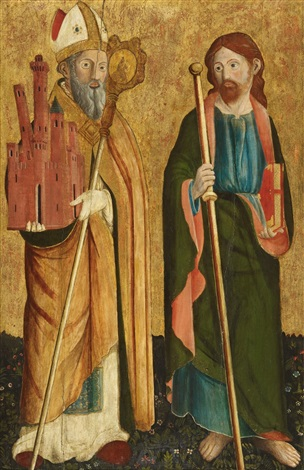 saint petronius and the apostle jakobus major by cristoforo di benedetto