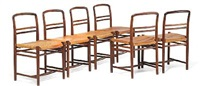 extremely rare rosewod chairs (set of 6) by flemming lassen and arne jacobsen
