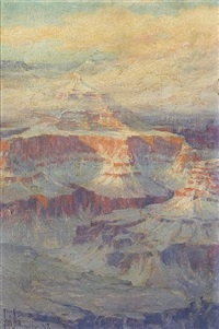 temple of isis, grand canyon by louis b. akin