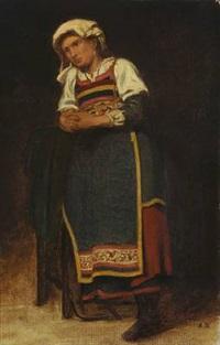 italian woman (study) by anton laurids johannes dorph
