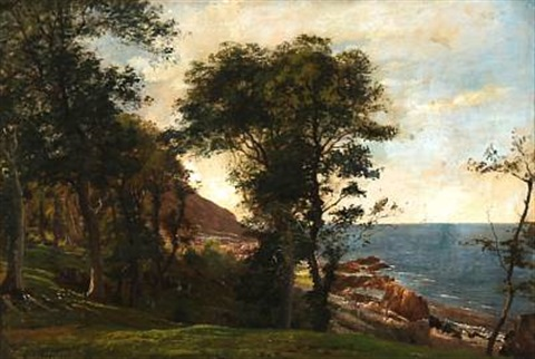 summer day at a coast by carl frederik peder aagaard