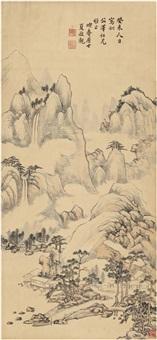 水邨云岭图 by xia jingguan