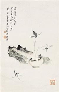 兰石图 by tang yun and bai jiao