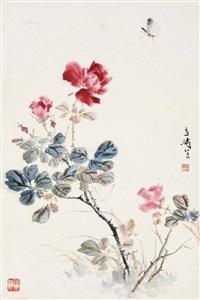 牡丹蝴蝶 (peony and butterfly) by wang xuetao