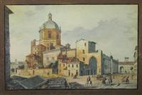 veduta di palazzo di governo (+ veduata generale del fabbricato detto di s. lorenzo di milano (pair) by domenico aspari