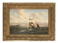 segelschiffe helsingör passierend by alfred jensen