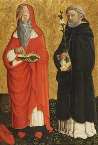 saint jerome and saint dominic by cristoforo di benedetto