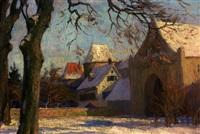 stadt im winter (regensburg?) by franz löffler