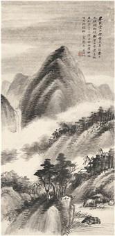 临米氏云山图 by wu hufan