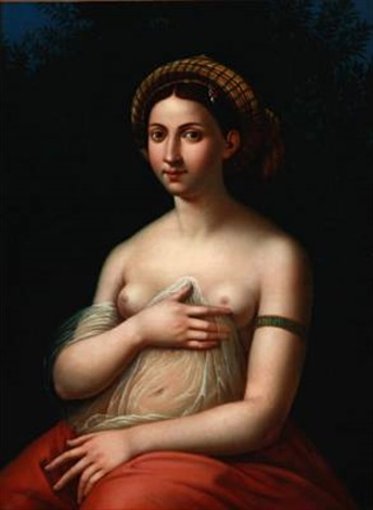 la fornarina after raphael by andreas ludvig koop