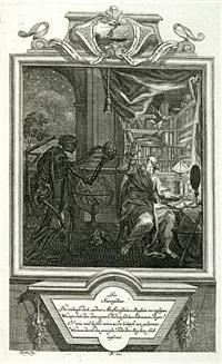 geistliche todts-gedanken bey allerhand gema hlden und schilderungen (bk by artist w/52 works, folio) by michael rentz