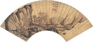 茅亭说古图 discussing the classics in a thatched hut by liu mai