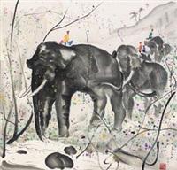 群象图 by wu guanzhong